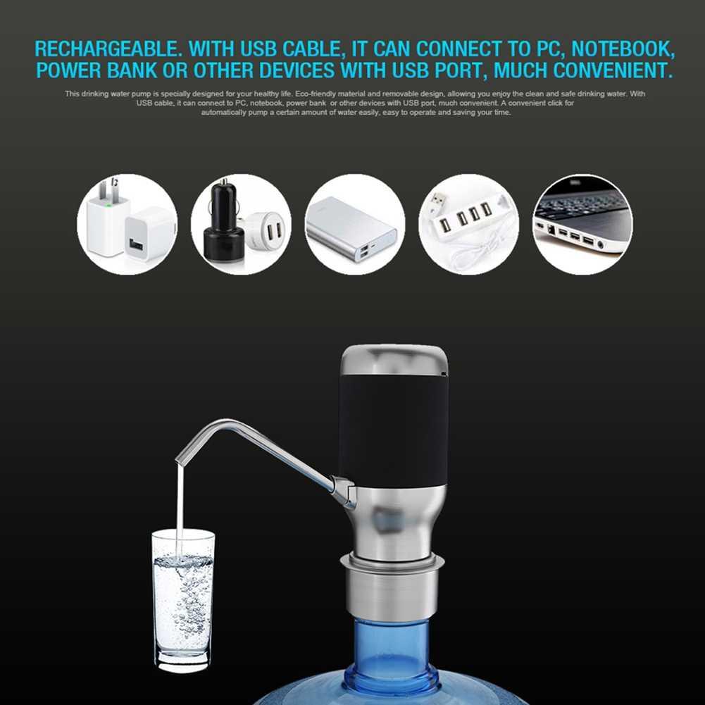Горячая TOD-Беспроводная электрическая автоматическая бутылка для воды насос умный диспенсер с Usb перезаряжаемой электрической батареей питьевой воды Бо