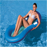 Summer 2019 Outdoor Pool Bean Bag Swimming Sofa Floating Air Bed Water Bed Inflatable Mesh Floating Row Leisure Floating Bed