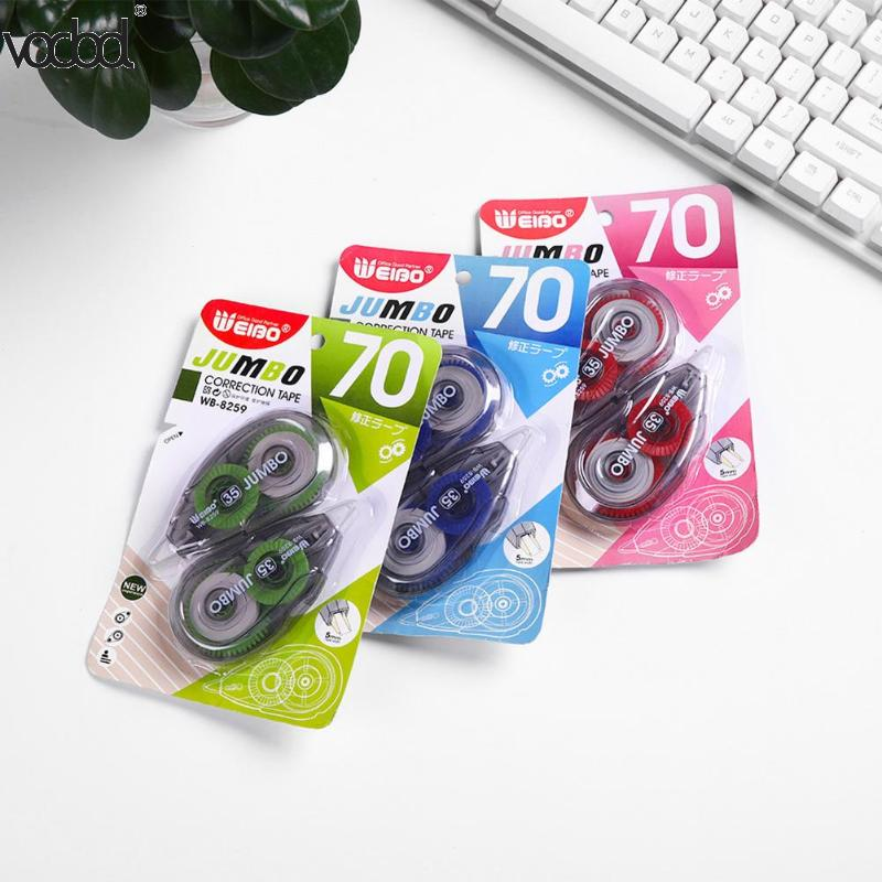 2pcs/set Correction Tape Student Children Corrector Tapes Office School Color Random Plastic Correction Tap  Stationery Supplie