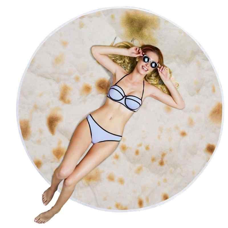 Пляжное одеяло Tortilla, круглое банное полотенце в форме буррито (Y-01Polyester 100 см)