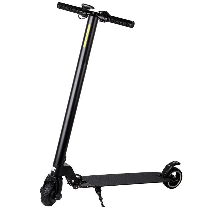 Mini Scooter électrique Snz-200 adultes 5 pouces 25 km/h travail urbain Double rond pliable Portable Adolescents frein à pied équitation