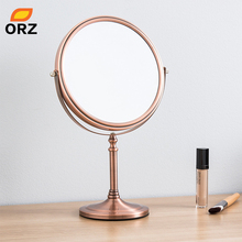 ORZ 8-inch Makeup Mirror Two-sided Desktop Decorative Bathroom Cosmetic Accessories Home Decoration Christmas Gift