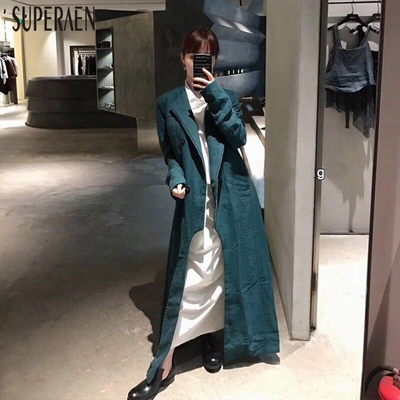 Couleur Coupe Superaen Solide 2019 Kelly Pour Europe vent coat Sac Nouvelle Coton Femme Femmes Vêtement Trench Sauvage Green UzVpSLMqG