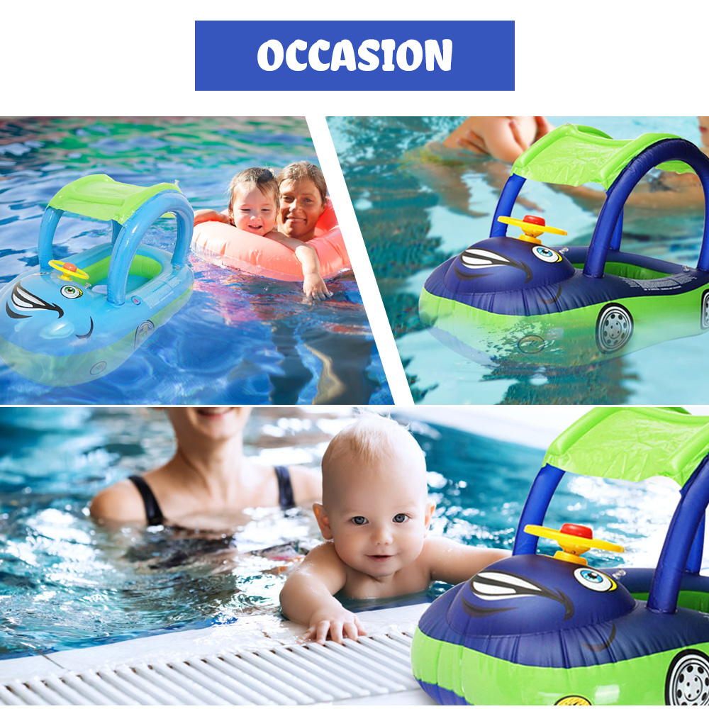 Inflatable Swimming Toys Children Baby Swimming Ring Water Toy Removable Awning Car Boat Pineapple Seat Sprinkler Water Balls