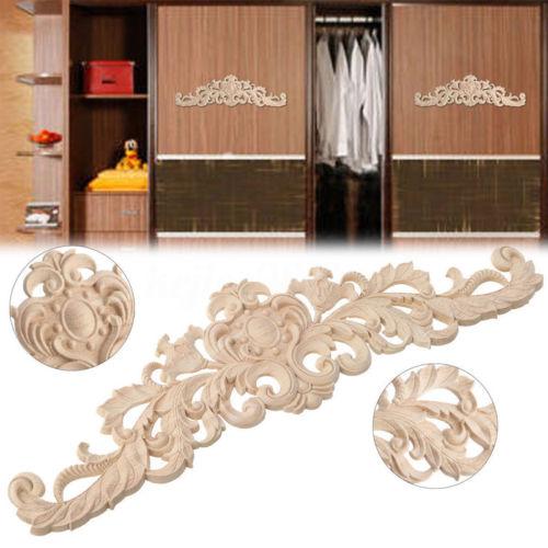 Oprecht 1 Pc Rubber Hout Gesneden Hoek Onlay Meubels Thuis Deur Decal Eiken Applique Hot Woondecoratie Houtsnijwerk