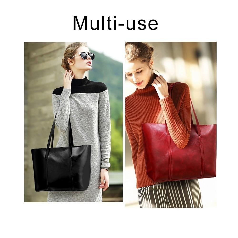 TTOU 4pcs/set Leather Bags Women Handbag Set Luxury Handbag Women Bags Designer Black Handbag Ladies Hand Bag Purse Female 2