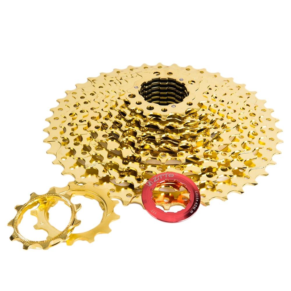 ZTTO 11-42 T 10 vitesses rapport large vtt VTT vélo or or Cassette pignons pour pièces M6000 M610 M675 M780 K7