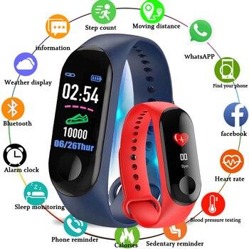 M3 Fitness bracelet pressure measurement Pedometer Fitness tracker Heart rate monitor Oxygen smart band waterproof PK MIBAND 3 oxygen fitness hunter