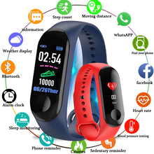 Get more info on the M3 Fitness bracelet pressure measurement Pedometer Fitness tracker Heart rate monitor Oxygen waterproof smart band PK MIBAND 3