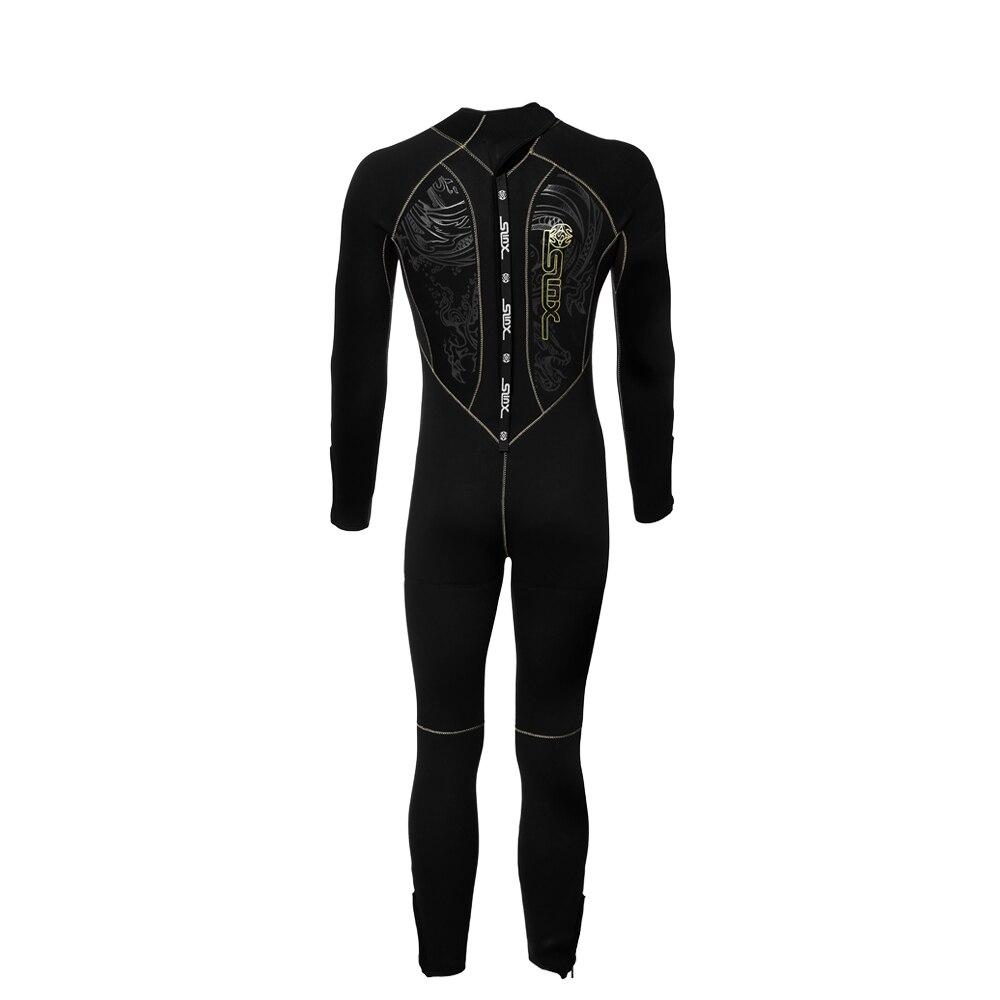 SLINX 5mm plongée combinaison hommes Surf natation tuba manches longues Super chaud maillots de Surf sport Surf humide costume complet - 2