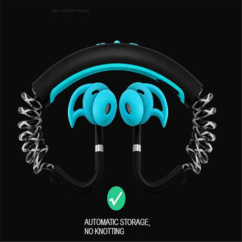 Bande de cou Bluetooth Extra basse Bluetooth casque sans fil sur l'oreille Bt écouteurs stéréo Fitness écouteur étanche - 3