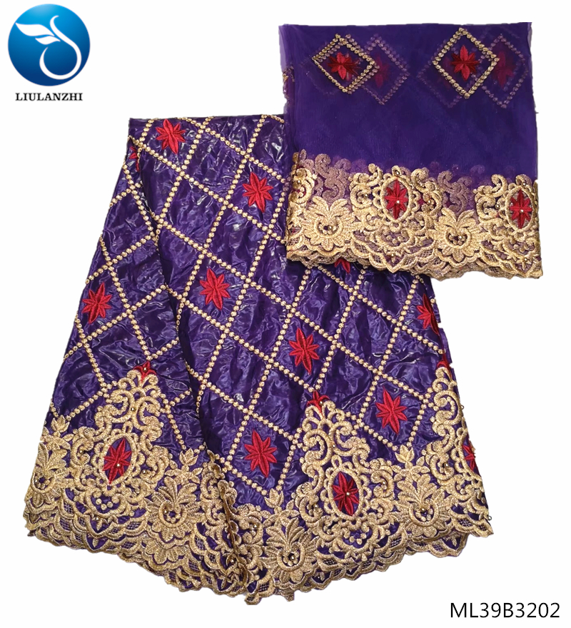 LIULANZHI coton africain bazin tissus 2019 tissu africain Bazin riche tissu tissu coton brodé pour les femmes 7yards ML39B32-in Tissu from Maison & Animalerie    1