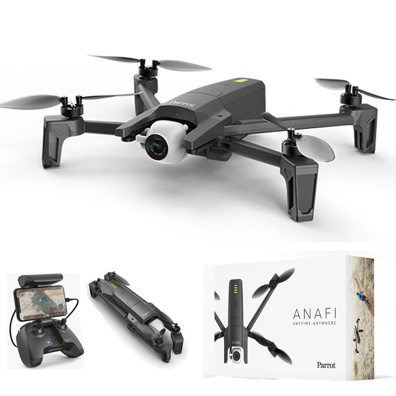 Koeoep Parrot ANAFI Quadrupter Camera 4K HDR Video Recording Wifi GPS Drones
