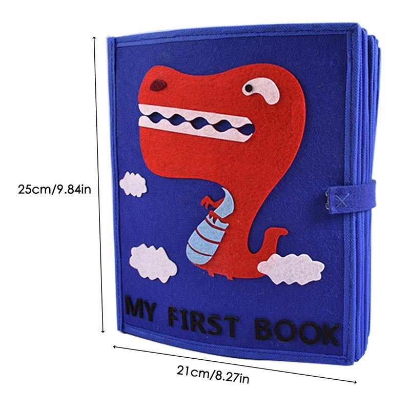 Livre en tissu non tissé matériel garçons filles enfant jouet éducatif lavable multi-fonctionnel livre en tissu bébé premier livre - 6