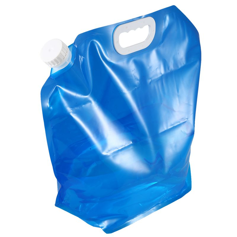 Foldable Water Canister For Outdoor Traveling, Camping, On Vacation Handle