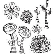 YaMinSanNiO Plant Flower Metal Cutting Dies Round Stencils Scrapbooking Photo Album Decorative Embossing DIY Cards New