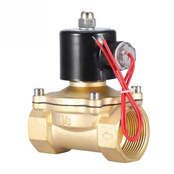 цена на DN32 Normally Closed 2 Position 2 Way Electromagnetic Solenoid Valve AC 220V 1-1/4 Electric Valve High Quality