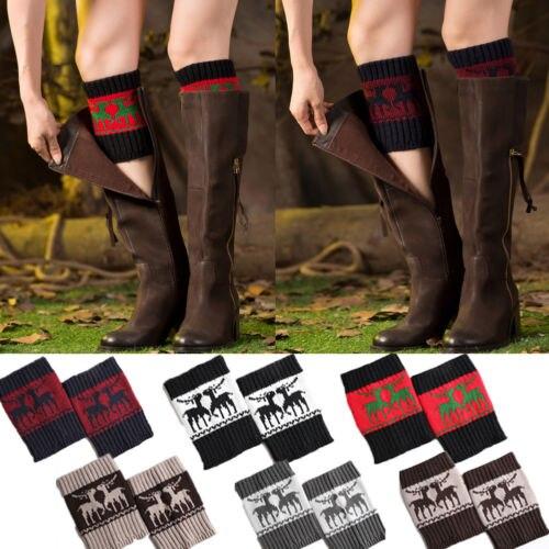 HIRIGIN Newest Women Christmas Winter Leg Warmers Crochet Boot Knit Knee Sleeve Toppers Cuffs Popular Suits