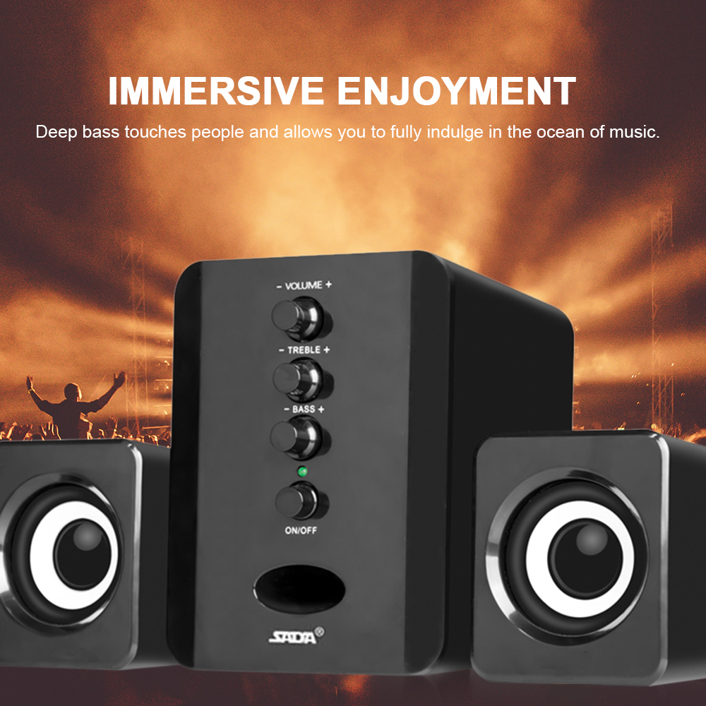SADA Computer Speakers Subwoofer Music-Player Sound-Box Bass Smart-Phones Stereo Combination