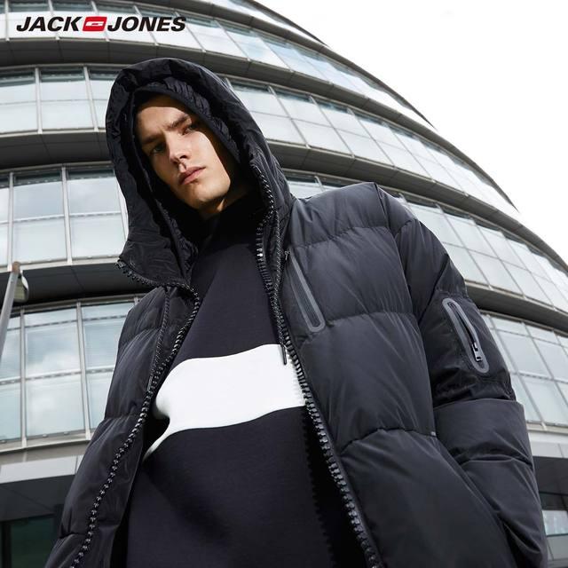 JackJones hommes hiver à capuche canard doudoune mâle décontracté mode manteau 2019 flambant neuf homme 218312531 3