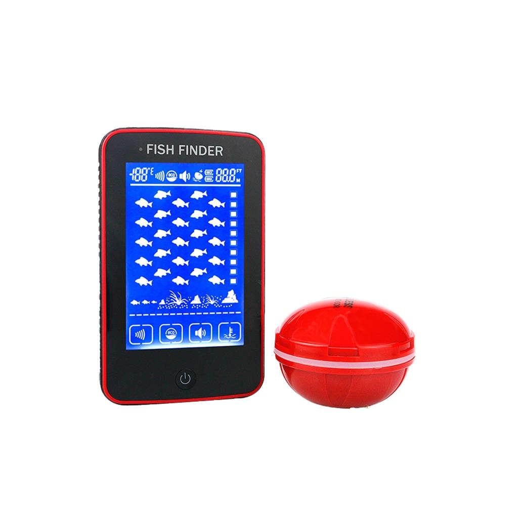 Erchang presse détecteur de poisson sans fil alarme de poisson Portable Sonar pêche leurre écho sondeur dans la pêche