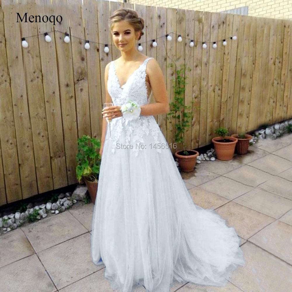 2019 New White Tulle Prom Dresses A Line Backless Floor Length Long Formal Dresses Cheap Wedding Party Gowns