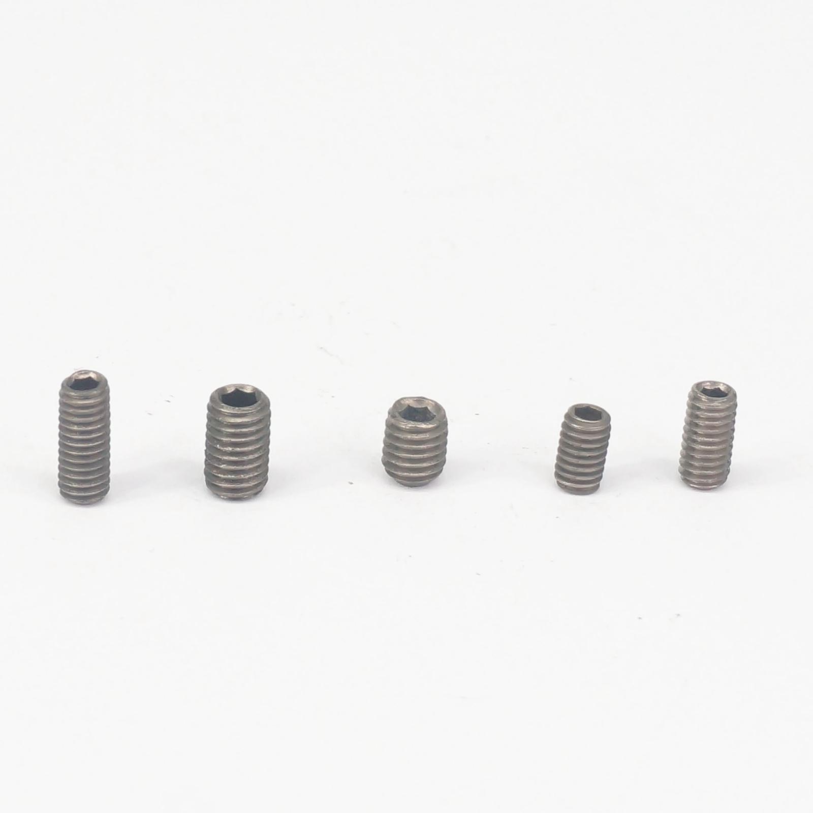 Set Grub Screw Silver Tone 25 Pcs Uxcell a16012900ux0678 Grub Screw M5 x 6Mm Hex Socket Cone Pt