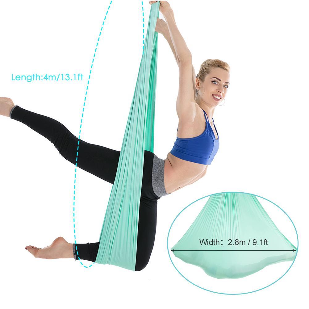 High Quality Strength Aerial Yoga Swings Hammock 50M X 50.50M Complete Set  Inversion Yoga Swing Air Set Hammock 50 Nylon