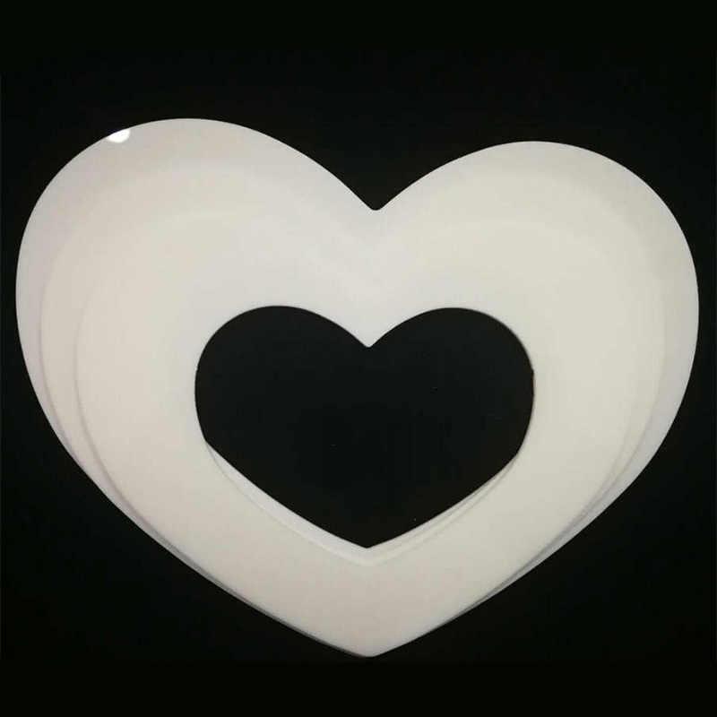 Da Forma do coração de Plástico PET Molde Do Bolo de Decoração Ferramentas de Cozimento Confeitaria Fabricante Útil Acessórios 6/8/10/12 polegada