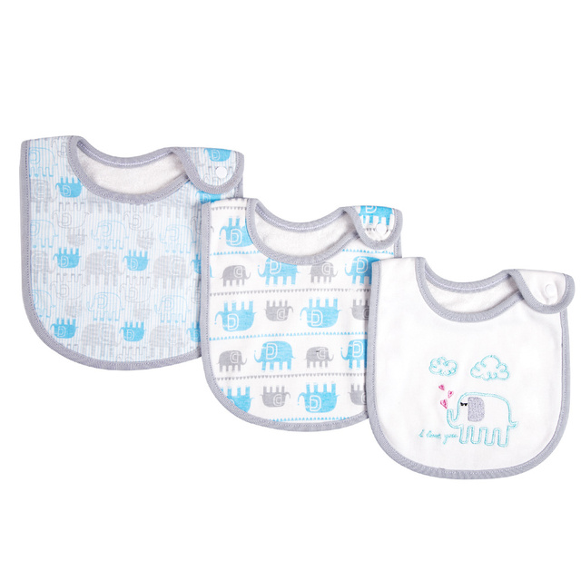 Set Of Baby Bibs With A Snap Button (3pcs/set) Accessories Infant (3-12 months) Regular Bibs & Bandanas Shop by Age Toddler (1-3 years)
