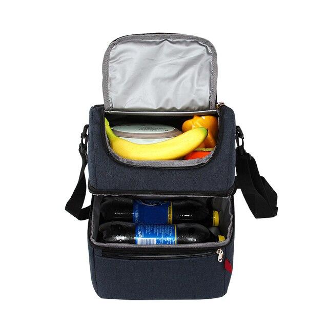 Portable Insulated Cooler Bento Tote Picnic Food Drink Fruit Fresh Keeping Organizer Handbag Picnic Lunch Box Case Supplies Gear
