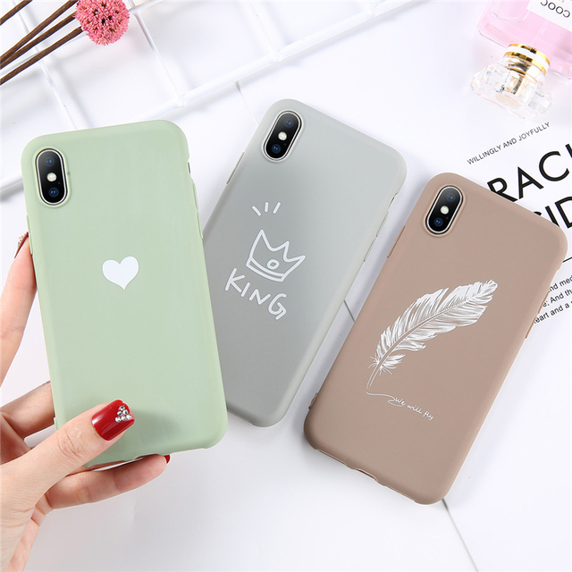 USLION Soft TPU Luminous Phone Cases For iPhone 7 8 6s Plus Glow Ultrathin Cover Couples Love Heart Case For iPhone 11 Pro 7Plus