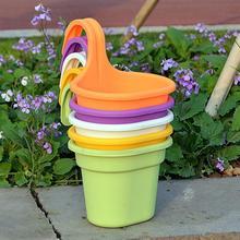 Крючок Зеленый горшок для растений полукруглый цветочный горшок настенная корзинка для бассейна один крючок для хранения смолы домашний сад подвесной цветочный горшок