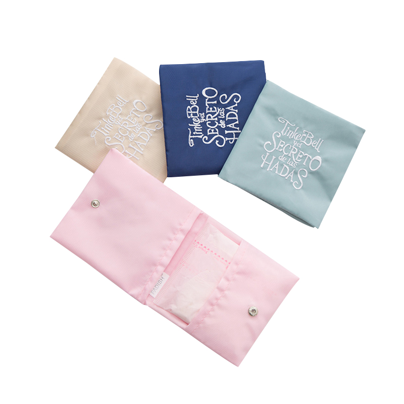 Female Reusable Sanitary Napkins Bag Women Carry-on Storage Pouch Menstrual Towel Pad Case Packing Organizer Travel Accessories