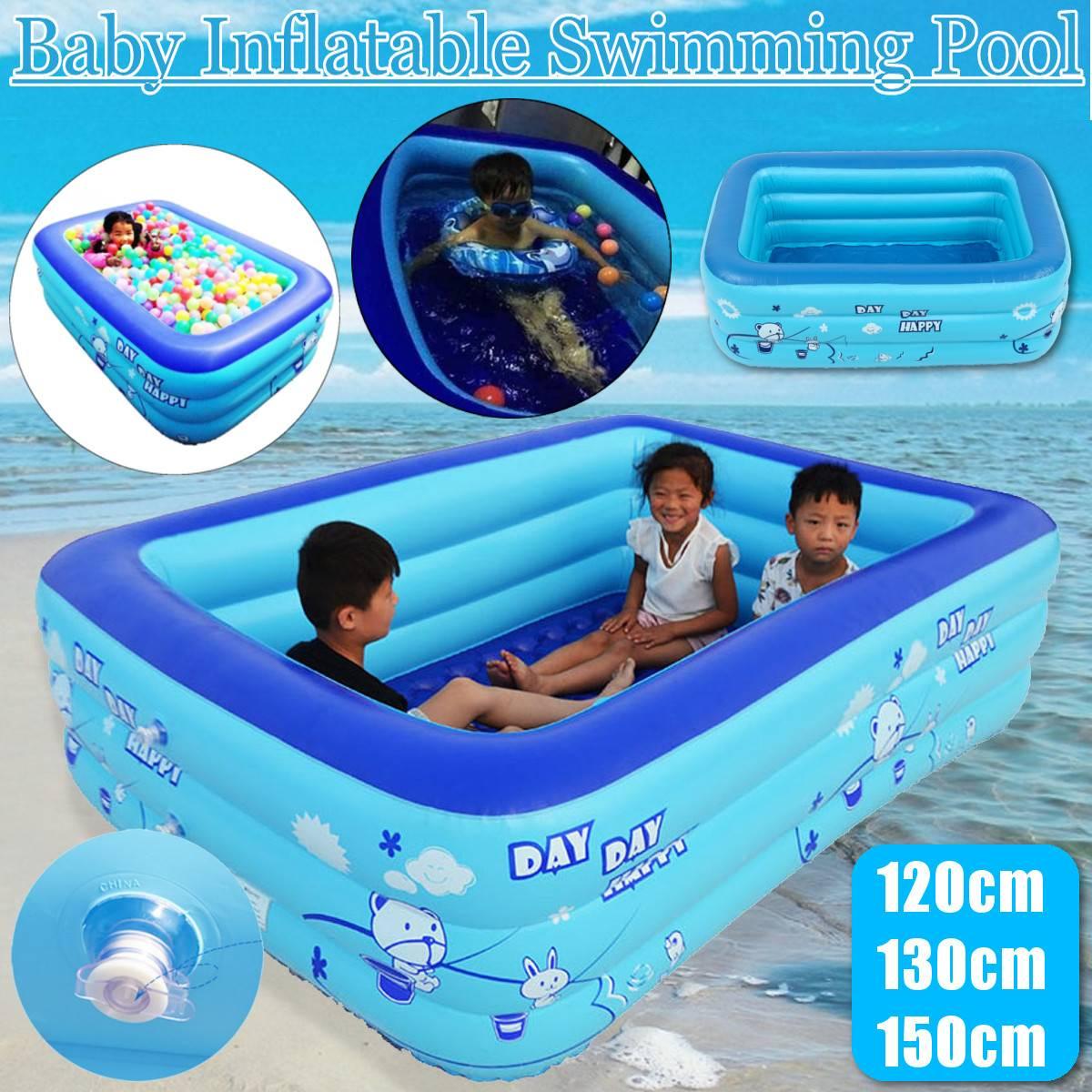 120/130/150 Cm Kinder Badewanne Baby Zu Hause Verwenden Paddeln Pool Aufblasbare Quadrat Schwimmbad Kinder Aufblasbare Pool Ozean Ball StraßEnpreis