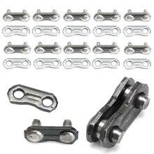 10 zestawów stal nierdzewna stalowy łańcuch łącznik złącza łańcuch do piły łańcuchowej Joiner Link do 325 058 łączenie łańcucha