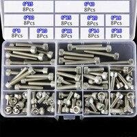 Suleve m6sh2 88 pçs m6 hex soquete cabeça parafuso parafusos variedade conjunto 304 aço inoxidável