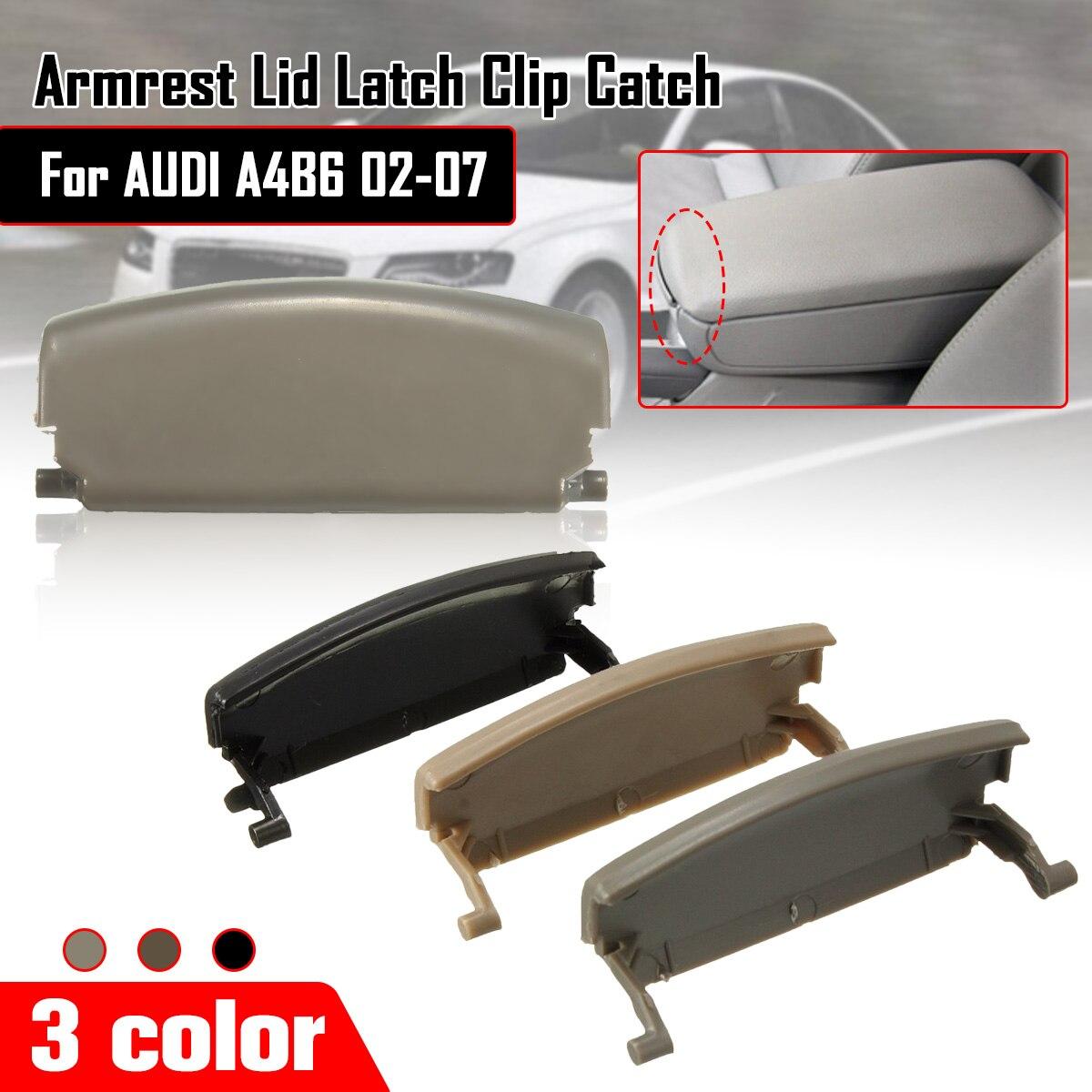 Car Armrest Lid Latch Clip Catch For AUDI A4 B6 2002-2008 Centre Console Cover E177B Auto Replacement Parts car armrest latch lid center console cover for audi a4 b6 b7 2002 2008 3 colors