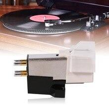 2019 Новый Магнитный картридж стилус алюминиевый LP Виниловый проигрыватель с чехлом для проигрыватель пластинок граммофон головка с измерительным наконечником