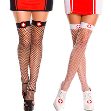Nurse outfit Stockings red Bow decorations Betterfly Fishnet charming Stocking hosiery Women Sexy Ladies red sexy fishnet stockings