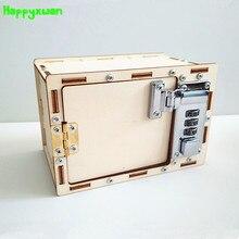 Happyxuan механический пароль коробка DIY Дети научные проекты эксперимент наборы Мальчик игрушка изобретение 2018 инновации творческое образование