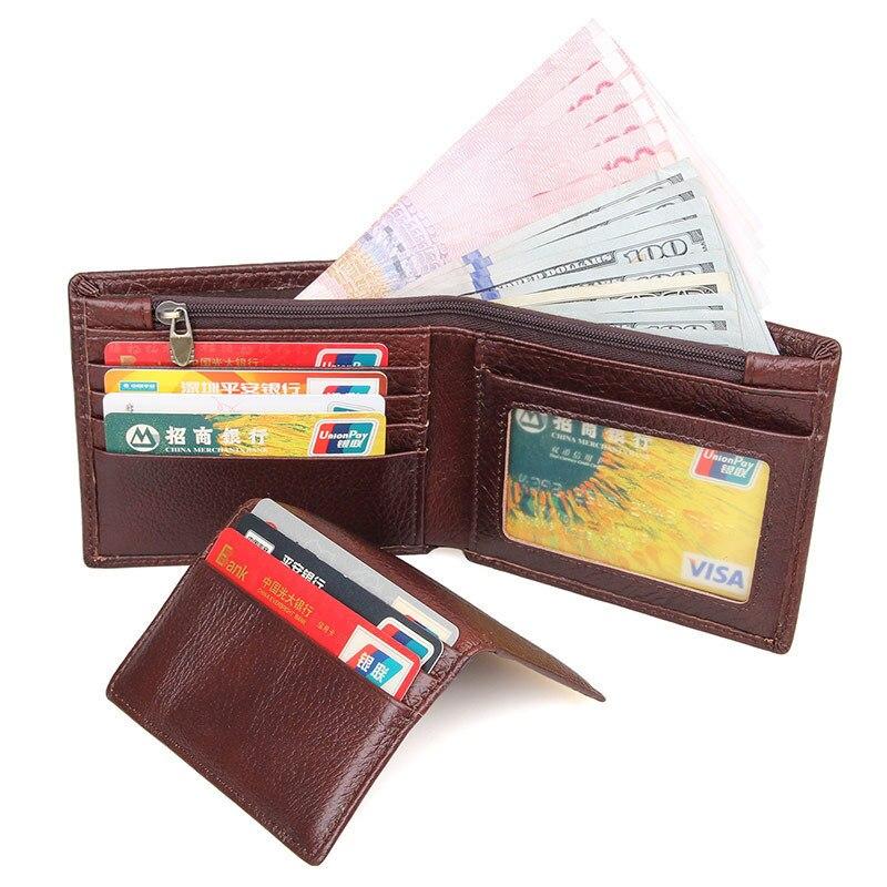 Gerade Rfid Echtem Leder Brieftasche Mode Kurze Männer Brieftasche Leder Karte Halter 8142-40 Männlichen Dünnen Leder Männer Brieftaschen Herrenbekleidung & Zubehör