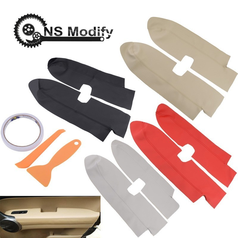 NS Modify Car Leather Front Door Panels Armrest Cover For Honda For CRV 2007 2008 2009 2010 2011 2012 With Installation Tool