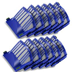 12 шт. Hepa кисточки фильтр Замена для Roomba 500 600 серии 536 550 551 620 650 запчасти пылесоса интимные аксессуары