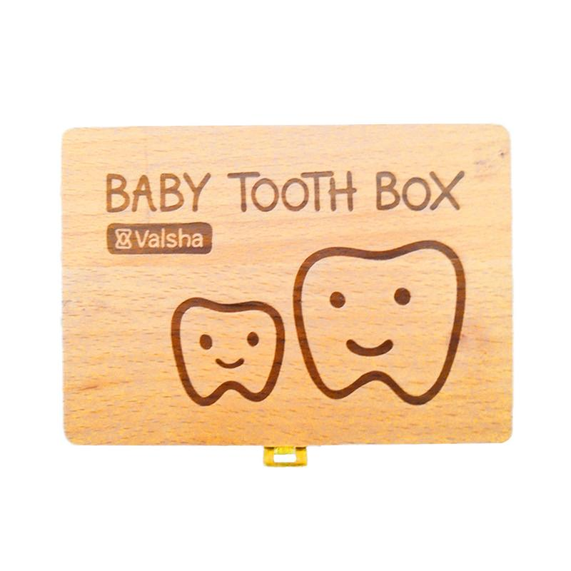 Baby Wood Box Teeth Box For Save Teeth Organizer Baby Milk Teeth Children Teeth Box Paulownia Wooden Tooth Box For Baby Memory