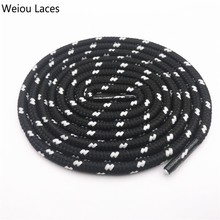 Weiou 0,45 см круглые полосатые спортивные кружевные черно-белые шнурки, толстые круглые шнурки в горошек, походные шнурки для дорки, обувь для папы, кроссовки