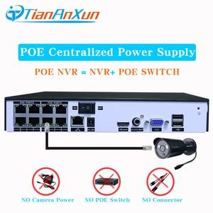 Image 3 - Tiananxun sistema de seguridad CCTV H.265, 48V, NVR poe, 4/8 canales, para cámara POE, IP, DVR, 5MP, 4MP, 1080P, videovigilancia, onvif