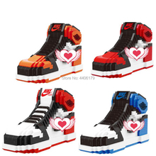b05a79f4a حار LegoINGlys الكلاسيكية NBA حذاء كرة السلة aj شيكاغو الهواء الأردن زارة  التجارة مايكرو الماس بناء