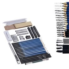 33 pcs 연필 전문 드로잉 스케치 연필 키트 스케치 흑연 숯 연필 스틱 지우개 편지지 드로잉 Suppli