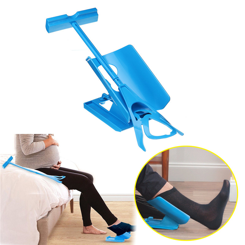 Aid Easy On Off Sock Helper Kit Shoe Horn Pain Free No Bending Shoe Horn For Pregnancy Dressing Aids